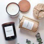 Luxusná a elegantná sviečka Mandarínka + Bazalka